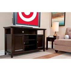 Simpli Home Amherst TV Stand - Brown : Target