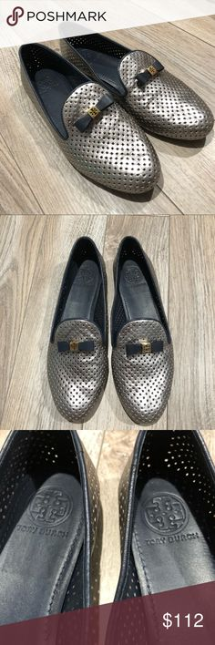 b2caeb253f1 Spotted while shopping on Poshmark  ❤️Host pick❤️Tory Burch perforated  metallic flats!