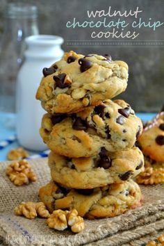 These Copycat Levain Bakery Walnut Chocolate Chip Cookies are INCREDIBLE! Thick, soft, chewy and studded with chocolate chips and walnuts, they're so easy to make and taste just like Levain Bakery's cookies from NYC!