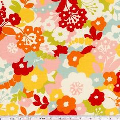 Easter dress Oh deer! Momo is back with this stunning woodland vision. An explosion of bright flower blooms is printed on this wonderful fabric. This quilting weight fabric is 44/45