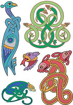 Animal & Bird Motifs Beautifully designed but with some faults in regard to celtic knotworking.