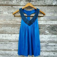 Victoria's Secret Bra Top Bra top by Victoria's Secret in vibrant blue. Size is small. Material has stretch. Shell is 60% pima cotton, 40% modal. Inner bra is 95% supima cotton, 5% spandex. Victoria's Secret Tops Tank Tops