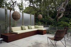 Built In Patio Seating Patio Mark Tessier Landscape Architecture Santa Monica, CA