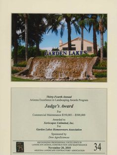 Judge's Award for Commercial Maintenance, 2010