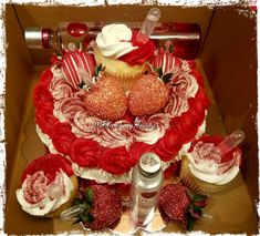 Ciroc Berry infused cake with infused chocolate covered strawberries! Alcohol Birthday Cake, Strawberry Birthday Cake, 25th Birthday Cakes, Alcohol Cake, Cupcake Birthday Cake, Adult Birthday Cakes, Cupcake Cakes, Birthday Ideas, Birthday Parties