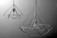 Diamond Himmeli light pendant geometric silver lamp by panselinos Great price $135