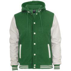 Hooded Oldschool College - Jas van Urban Classics - Artikelnummer: 240051 - vanaf 59,99 € - Large Popmerchandising