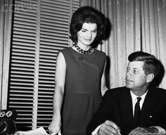 John F. Kennedy and his wife, Jackie, look over his popularity against Hubert Humphrey.