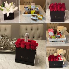 Flower Box Gift, Flower Boxes, Diy Flowers, Candy Bouquet, Surprise Gifts, Valentine Gifts, Flower Arrangements, Baby Shower, Creative