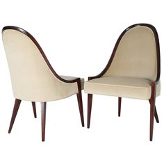 Pair of Harvey Probber Gondola Chairs | From a unique collection of antique and modern chairs at https://www.1stdibs.com/furniture/seating/chairs/