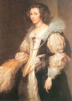 1629 Marie Louise de Tassis by Anthony van Dyck (Furstlich Lichtensteinische Gemäldegalerie)
