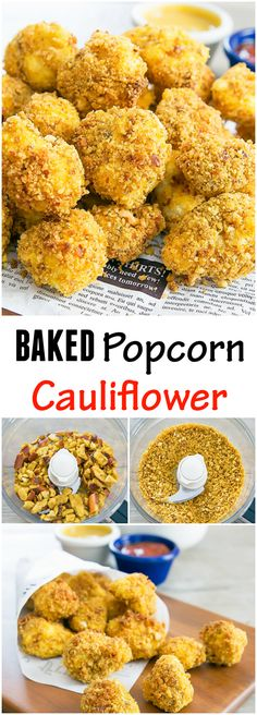 Baked Popcorn Cauliflower. Easy and delicious!
