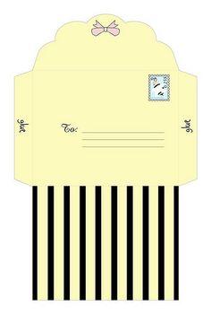 Cute DIY Printable Envelope w/ Bumble Bee theme