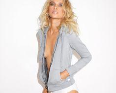 Never End-Grey Zip Up Hoodie Grey Zip Ups, Blazer, Hoodies, Jackets, Collection, Women, Fashion, Down Jackets, Moda