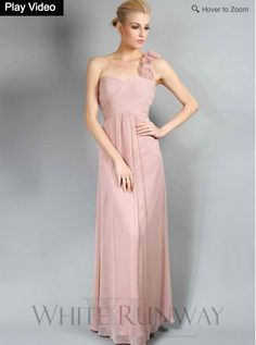 Anabel Dress. This stunning full length one shoulder chiffon dress features  delicate rouching on the 2359efbad