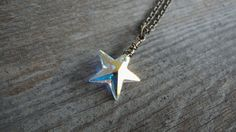 Star Necklace Lucky Star Wish Upon A Star by WildGardenDesigns