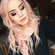 Pink Salmon Hair Color. So Hot!