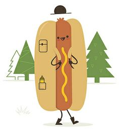 Skinny Andy Fun illustrations by Skinny Andy. Pattern Illustration, Graphic Design Illustration, Hot Dog Restaurants, Character Inspiration, Character Design, Hot Dog Cart, Kawaii, Humor Grafico, Book Images