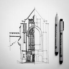 Half #sketch #drawing #architecture | by Dan Hogman