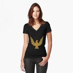 Bird Design, Tee Design, My T Shirt, V Neck T Shirt, Tshirt Colors, Chiffon Tops, Female Models, Fitness Models, Shirt Designs