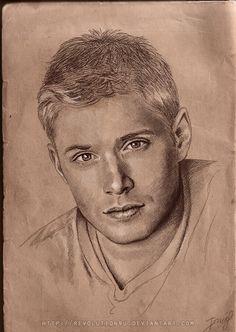 Jensen Ackles portrait by vongue on deviantART