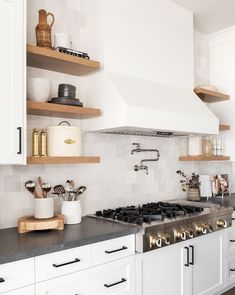 Home Interior Styles One Kitchen Two Ways.Home Interior Styles One Kitchen Two Ways Modern Farmhouse Kitchens, Home Kitchens, Home Interior, Kitchen Interior, Floating Shelves Kitchen, Open Shelving In Kitchen, Open Cabinets In Kitchen, Open Shelves, Kitchen Cabinet Shelves