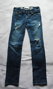 Girls abercrombie Kids Denim Blue Skinny Jeans Size10 New withTags Free Shipping Starting Bid $19.99