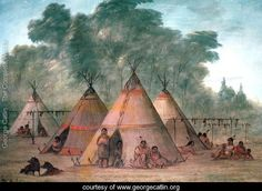 Sioux Village - George Catlin kp