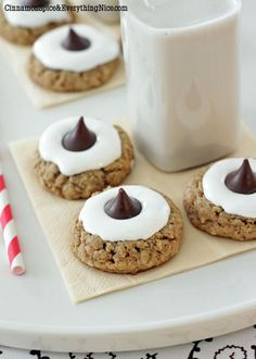 Oatmeal Hershey's Kiss Cookie S'mores