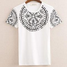 Buy 'Free Shop – Short-Sleeve Pattern T-Shirt' with Free International Shipping at YesStyle.com. Browse and shop for thousands of Asian fashion items from Taiwan and more!