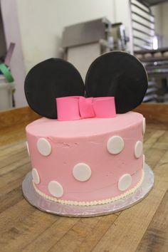 Our cute little Yummy Minnie Mouse Cake!