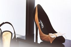 #dressai #bow | chanel pink and black shoes