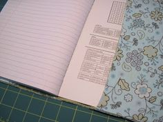 Michael Creations: Fabric Notebook Cover or Book Cover Tutorial