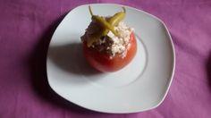 Tomate relleno, en frio. Gourmet Bilbao.