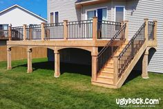 Create a beautiful outdoor living space for your home with maintenance free decking materials that are durable and long-lasting.