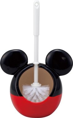 Amazon.com: Disney toilet brush holder (with a brush) Mickey Mouse SAN2227-1 (japan import): Health & Personal Care
