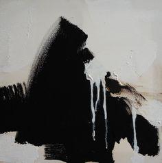 Da série O Negro e o Gesto - Pintura, 40x40 cm ©2014 por Maria Antónia Santos - Pintura contemporânea, Tela, Arte abstrata