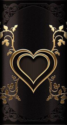 Black Wallpaper: Wallpaper… By Artist Unknown… Bling Wallpaper, Heart Wallpaper, Butterfly Wallpaper, Cellphone Wallpaper, Mobile Wallpaper, Pattern Wallpaper, Wallpaper Backgrounds, Wallpaper Ideas, Heart Background