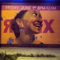 Night time shot, done in one day: Seattle Art Museum Mural, 5/12.  #Weirdo, #Graffiti