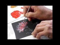 【トールペイント】描き方⑱カーネーションと白の綿花 How to draw Carnation and white cotton - YouTube