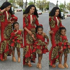 Image may contain: 6 people, people standing Ankara Styles For Kids, African Dresses For Kids, African Lace Dresses, African Children, African Fashion Dresses, African Outfits, African Attire, African Wear, African Style