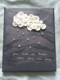 You Make Me Happy When Skies Are Gray button art on Etsy. Fun Crafts, Diy And Crafts, Crafts For Kids, Arts And Crafts, Paper Crafts, Music Crafts, Diy Paper, Paper Art, Cuadros Diy