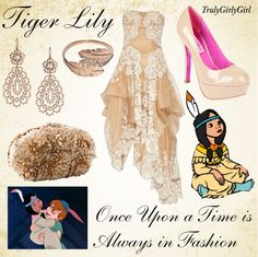 """""""Disney Style: Tiger Lily"""" by trulygirlygirl ❤ liked on Polyvore"""