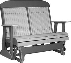 LuxCraft Classic Highback 4ft. Recycled Plastic Patio Glider. FREE SHIPPING.