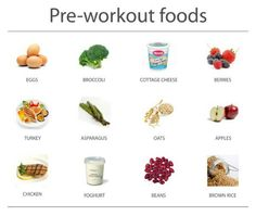 Pre-workout foods