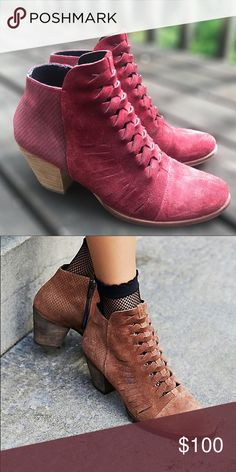 856eb69f0 Free People Booties Burgundy braided suede Free People booties. Only worn  once! Free People Shoes Ankle Boots & Booties