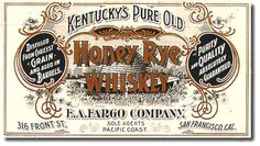 Vintage Kentucky's Pure Old Honey Rye Whiskey label