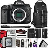 #5: Canon EOS 7D Mark II Digital SLR Camera Body w/ Essential Bundle - Includes: Sling Backpack Monopod LP-E6 Replacement Battery Kingston 32GB SD Card Remote Control and SD Card Case
