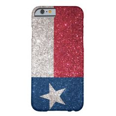 Faux Glitter Texas flag iPhone 6 Case