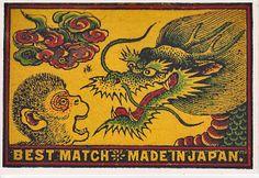 Vintage Matchbox - Made In Japan. 1920